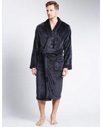 Marks & Spencer - Premium Fleece Gown - Lyst