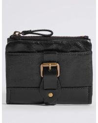 Marks & Spencer - Leather Buckle Purse With Cardsafetm - Lyst