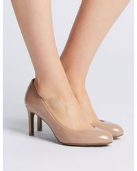 Marks & Spencer - Wide Fit Almond Toe Court Shoes - Lyst