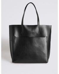 Marks & Spencer - Leather Pocket Shopper Bag - Lyst