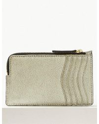 Marks & Spencer - Leather Metallic Zip Detail Coin Purse - Lyst