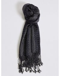 Marks & Spencer - Sequin Striped Scarf - Lyst