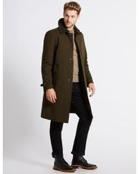 Marks & Spencer - Cotton Blend Trench Coat With Stormweartm - Lyst