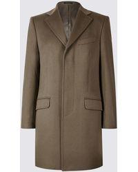 Marks & Spencer - Pure Cashmere Revere Coat - Lyst