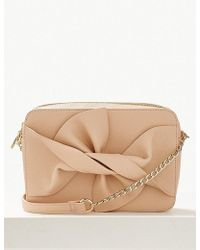 e2722c5b606d6 Marks   Spencer - Faux Leather Bow Cross Body Bag - Lyst