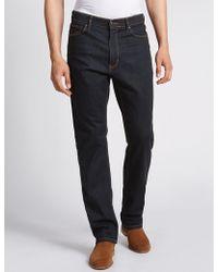 Marks & Spencer - Regular Fit Stretch Water Resistant Jeans - Lyst