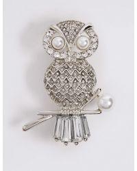Marks & Spencer - Owl Brooch - Lyst