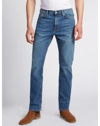 Marks & Spencer - Straight Fit Stretch Jeans - Lyst