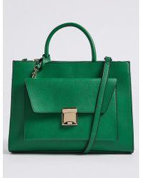 Marks & Spencer - Faux Leather Envelope Tote Bag - Lyst