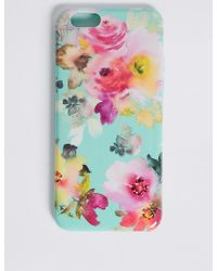 Marks & Spencer - Iphone 6/6s Floral Print Phone Case - Lyst