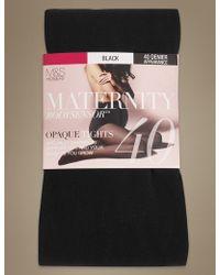 Marks & Spencer - 40 Denier Body Sensortm Opaque Maternity Tights - Lyst