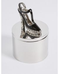 Marks & Spencer   Diamanté Encrusted Shoe Trinket Box   Lyst