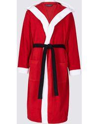 Marks & Spencer - Santa Fleece Dressing Gown - Lyst