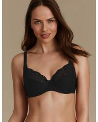 Marks & Spencer - Vintage Lace Cotton Rich Non-padded Full Cup Bra B-e - Lyst