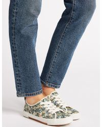 Marks & Spencer - Canvas Print Trainers - Lyst