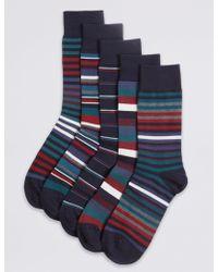 Marks & Spencer - 5 Pack Cool & Freshfeettm Cotton Rich Socks - Lyst