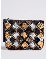 Marks & Spencer - Pure Cotton Embellished Coin Purse - Lyst