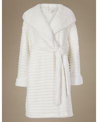 Marks & Spencer - Fleece Novelty Hooded Dressing Gown - Lyst