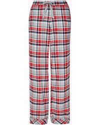 Marks & Spencer - Pure Cotton Checked Pyjama Bottoms - Lyst