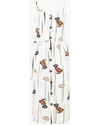 870d2b41bd Marks   Spencer - Cami Floral Print Waisted Dress - Lyst