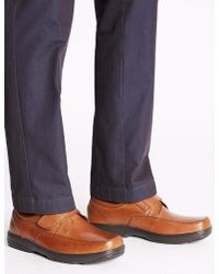 Marks & Spencer - Big & Tall Extra Wide Leather Shoes - Lyst