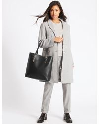 Marks & Spencer - Faux Leather Carry All Shopper Bag - Lyst