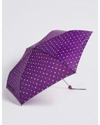 Marks & Spencer - Polka Dot Compact Umbrella - Lyst