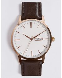 Marks & Spencer - Slim Day Date Watch - Lyst