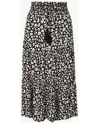 fb63ede915 Lyst - Marks & Spencer Leather A-line Midi Skirt in Black