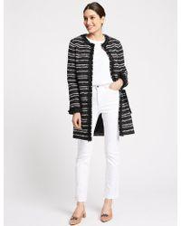 Marks & Spencer - Textured Multi Colour Coat - Lyst