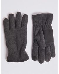 Marks & Spencer - Touch Screen Fleece Gloves - Lyst
