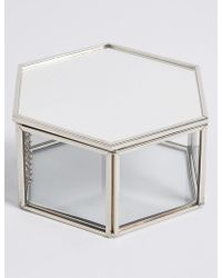 Marks & Spencer - Hexagon Glass Trinket Box - Lyst