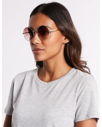 Marks & Spencer | Metal Round Sunglasses | Lyst