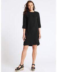 Marks & Spencer - 3/4 Sleeve Shift Dress - Lyst