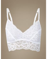 Marks & Spencer - Louisa Lace Bralet - Lyst