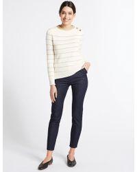 Marks & Spencer - Frill Pocket Roma Rise Skinny Leg Jeans - Lyst