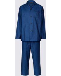 Marks & Spencer - Pure Cotton Textured Pyjama Set - Lyst