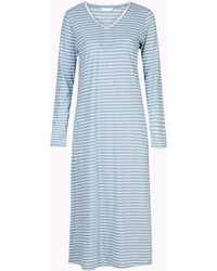 Marks & Spencer - Modal Blend Striped Long Nightdress - Lyst