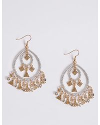 Marks & Spencer - Charming Drop Earrings - Lyst