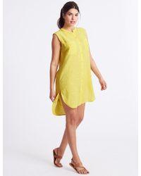 Marks & Spencer - Pure Cotton Sleeveless Beach Dress - Lyst