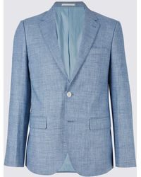 Marks & Spencer - Linen Miracle Tailored Fit Jacket - Lyst