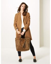 Marks & Spencer - Animal Print Shopper Bag - Lyst
