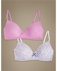 Marks & Spencer - 2 Pack Padded Full Cup Bras A-d - Lyst