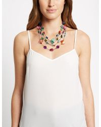 Marks & Spencer - Assorted Bead & Shell Necklace - Lyst