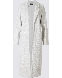 Marks & Spencer - Cotton Blend Open Front Duster Coat - Lyst