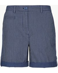 Marks & Spencer - Cotton Rich Striped Chino Shorts - Lyst