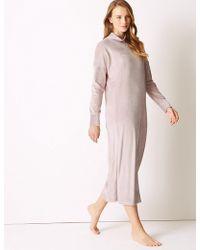 Marks & Spencer - Supersoft Fleece Lounge Dress - Lyst