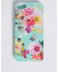 Marks & Spencer - Iphone 5/5s Floral Print Phone Case - Lyst