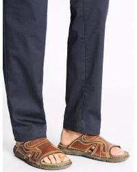 Marks & Spencer - Leather Mule Slip-on Sandals - Lyst