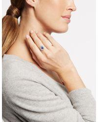 Marks & Spencer | Platinum Plated Baguette Regal Ring | Lyst